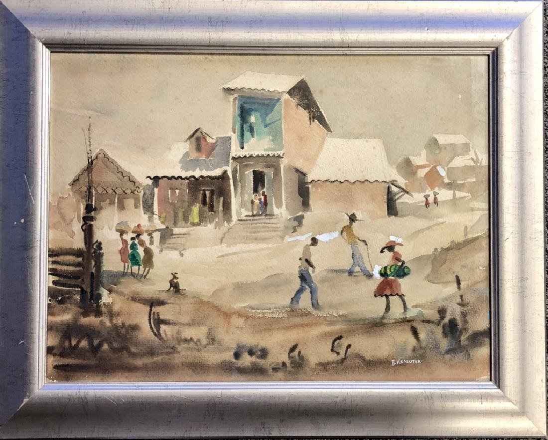 ROBERT KRAEUTER HAITIAN WATERCOLOR - 2