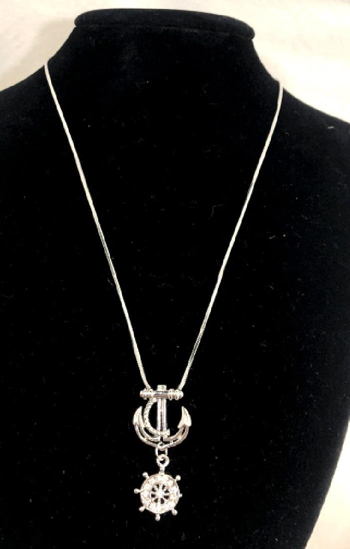 TRENDY STERLING NECKLACE WITH ANCHOR PENDANT