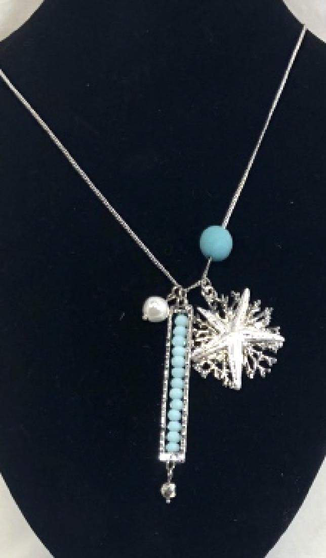 ADORABLE TURQUOISE ACCENT BEACH NECKLACE