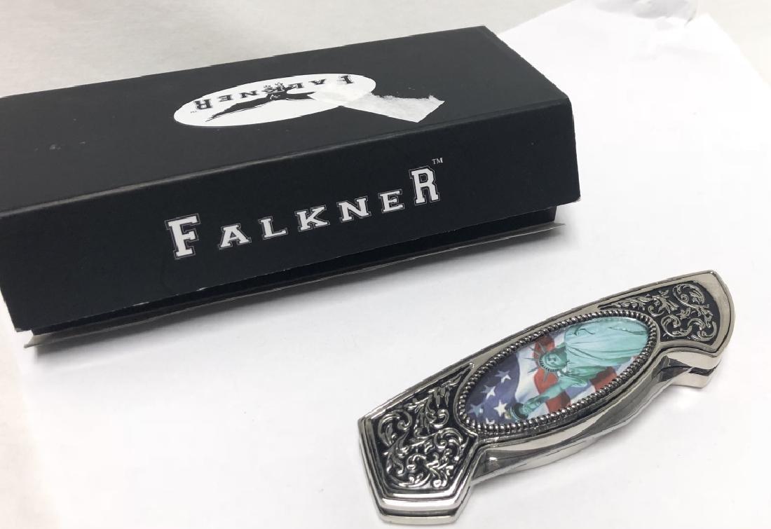 FALKNER STATUE OF LIBERTY POCKET KNIFE IN CASE