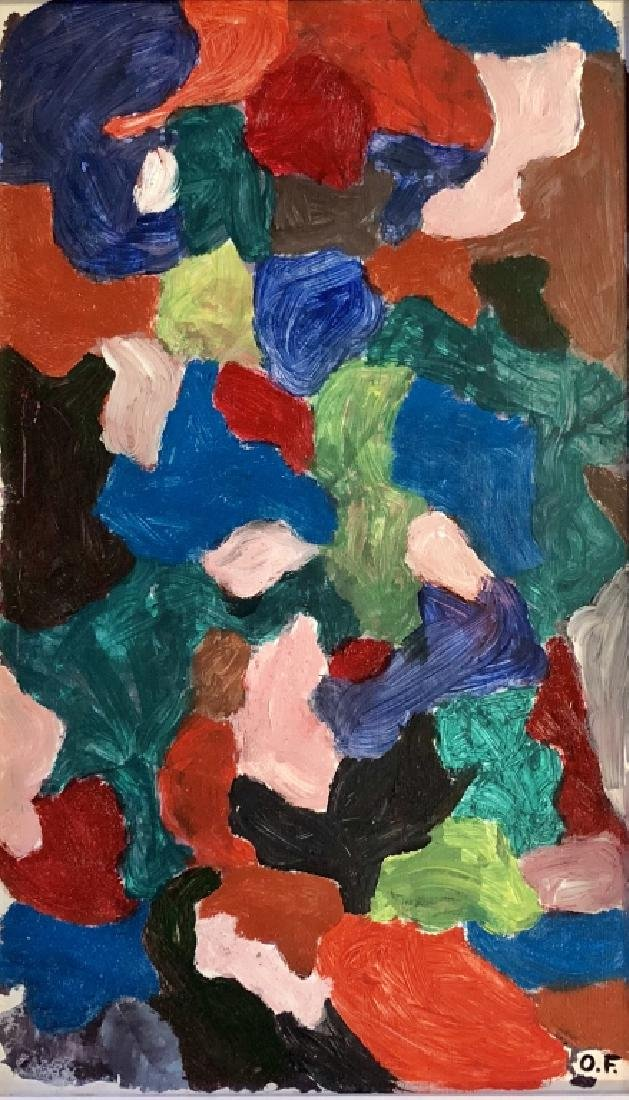 OTTO FREUNDLICH ABSTRACT OIL ON CANVAS V$18,000
