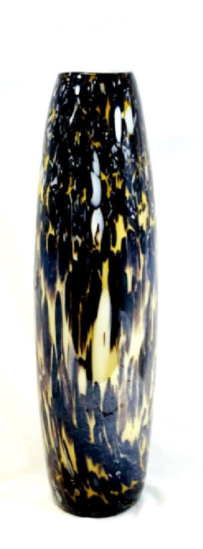 EXQUISITE SIGNED MURANO TALL GALLERY GLASS VASE