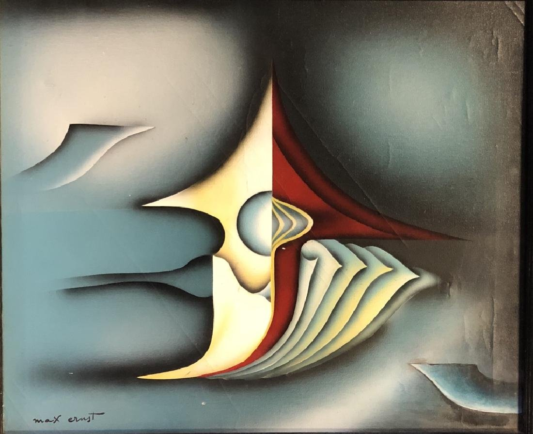 MAX ERNST ABSTRACT OIL ON CANVAS V$30,000