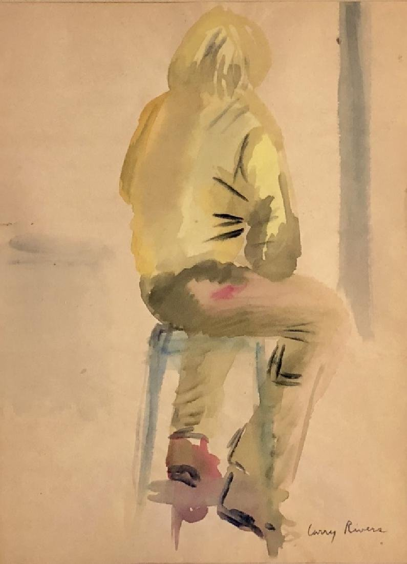 LARRY RIVERS FIGURATIVE WATERCOLOR V$9,000