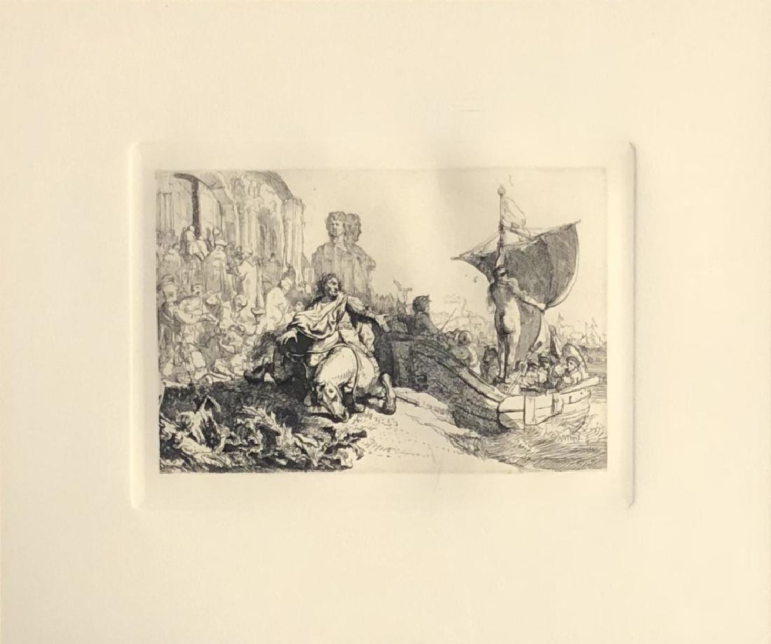 ETCHING AFTER REMBRANDT VIN RIJN