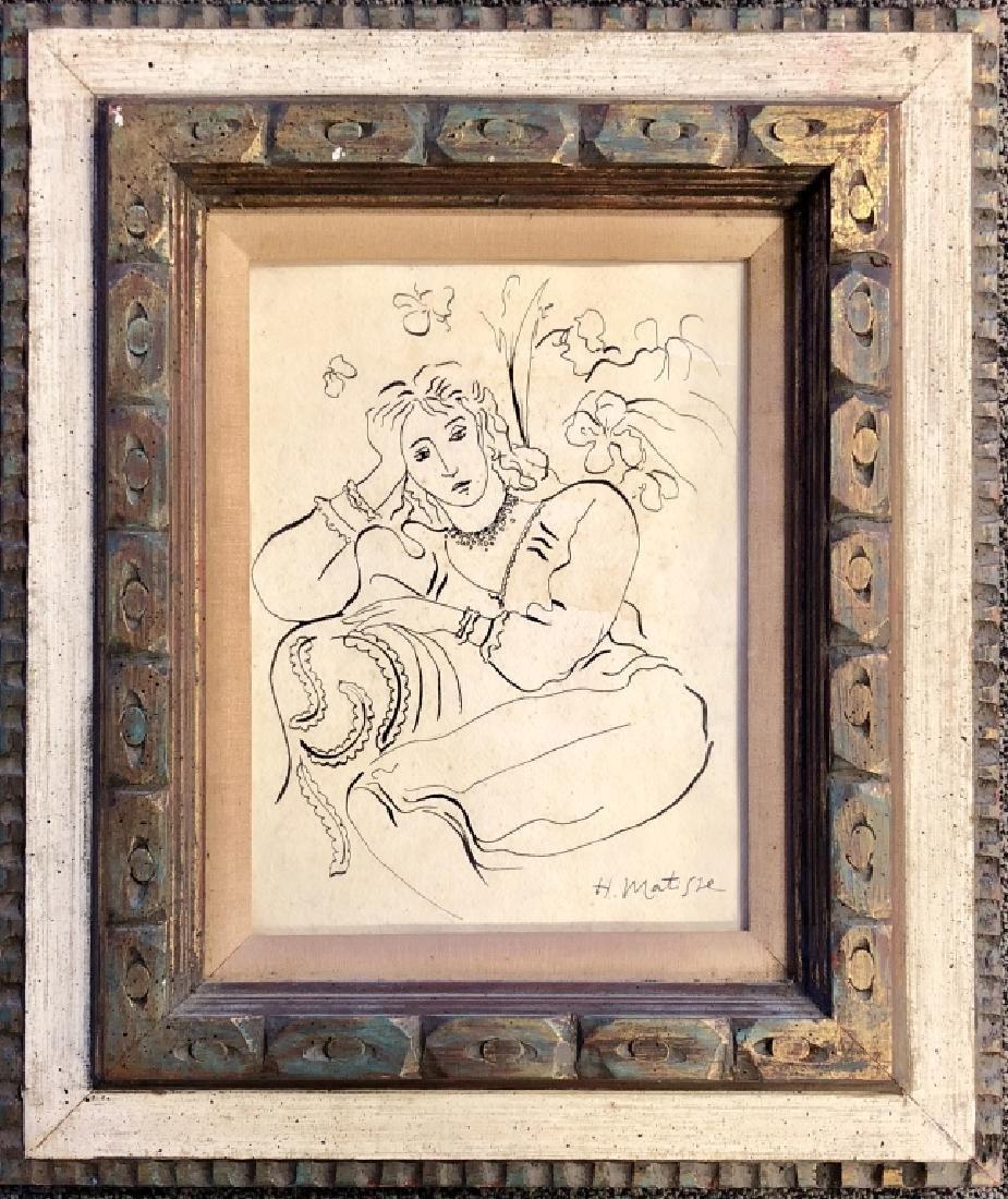 HENRI MATISSE FIGURATIVE INK ON PAPER V$68,000 - 2