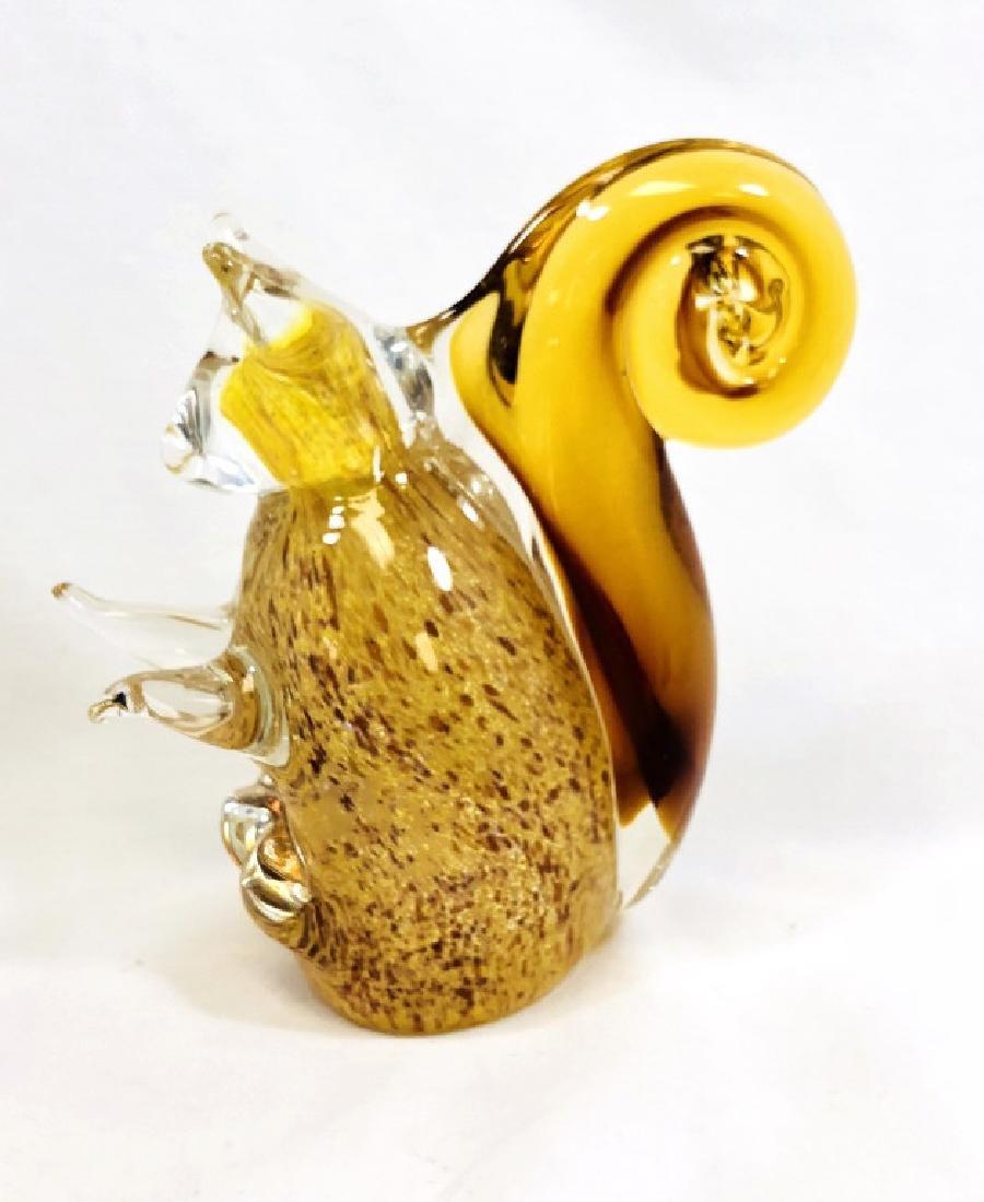 ADORABLE MURANO AMBER GLASS SQUIRREL SCULPTURE