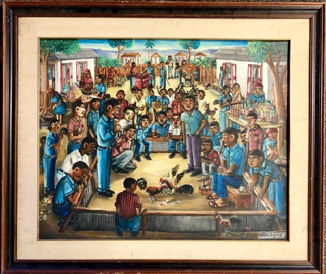 WILSON BIGAUD HAITIAN FOLK ART ON CANVAS V$3,000 - 2