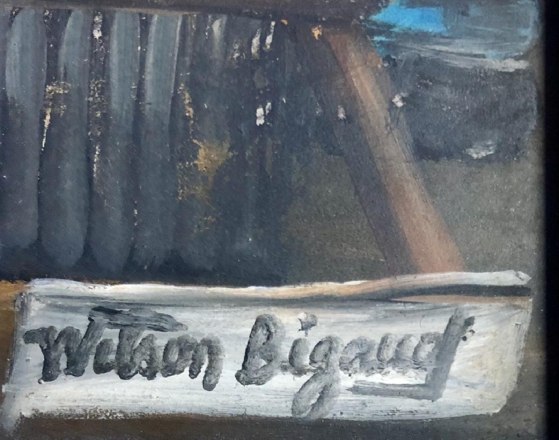WILSON BIGAUD HAITIAN FOLK ART ON CANVAS V$3,000 - 3