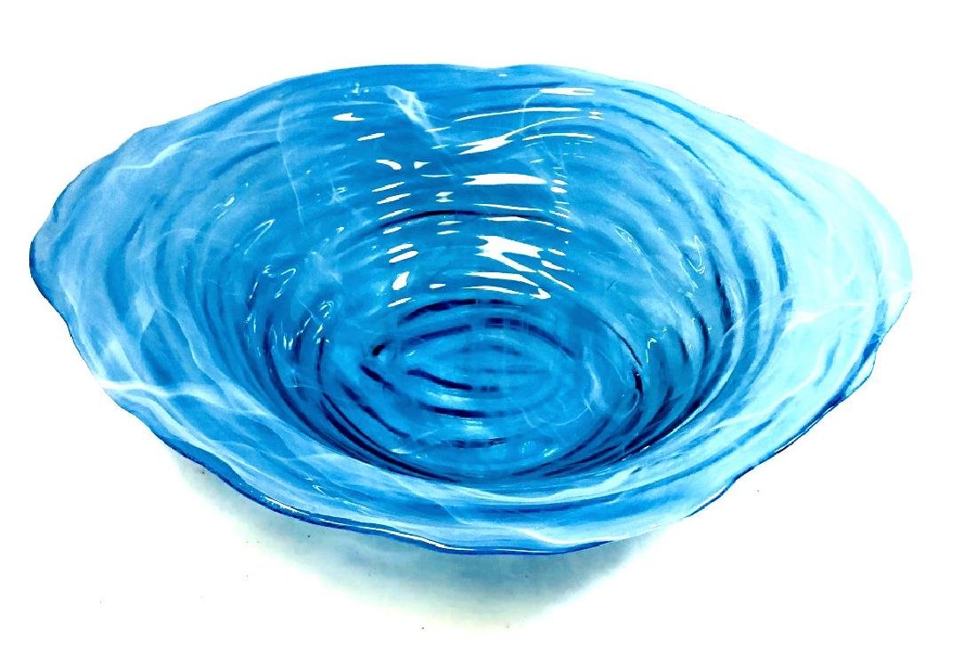 GORGEOUS IRRIDESCENT SKY BLUE MURANO BOWL