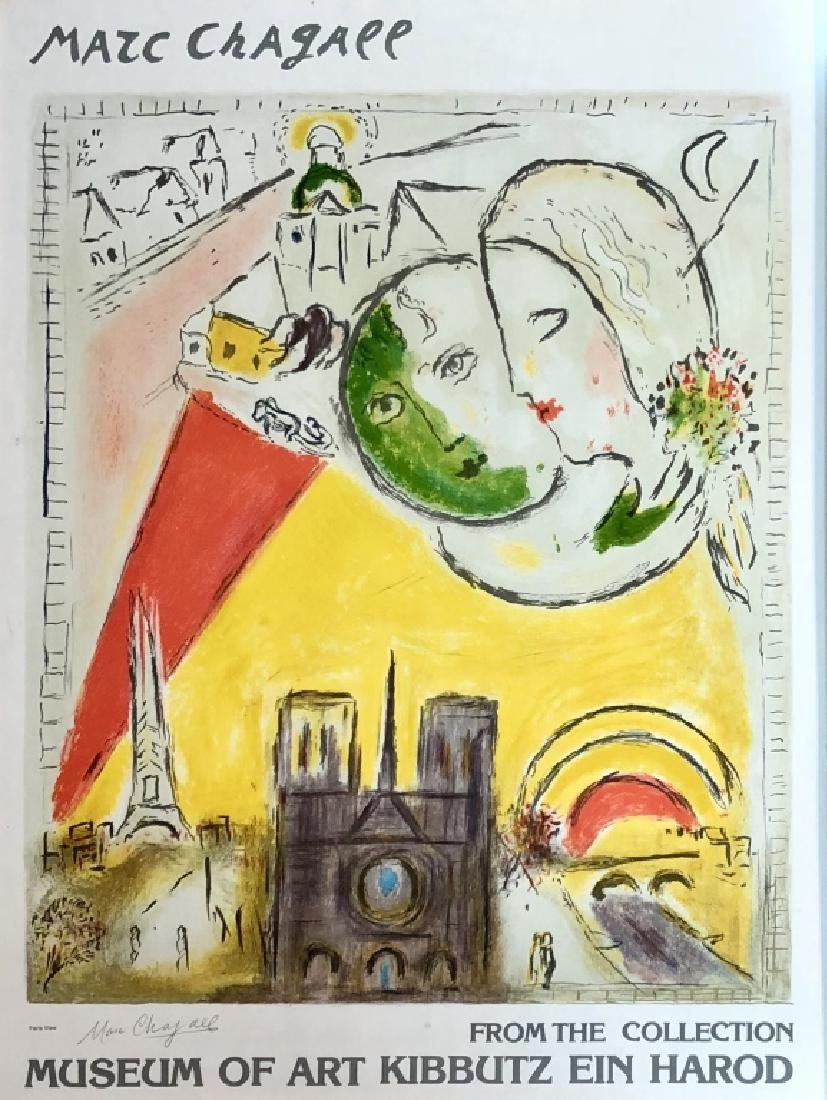 SIGNED MARC CHAGALL EXHIBITION POSTER V$1,500