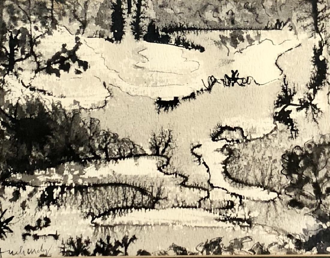 PIERRE ALECHINSKY INDIA INK ON PAPER V$10,000