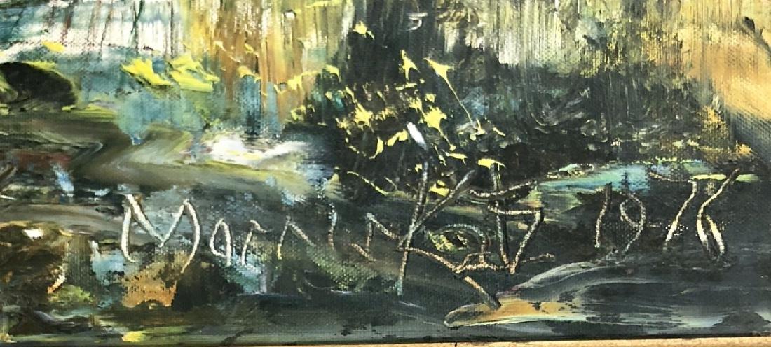 VINTAGE MORRIS KATZ OIL ON CANVAS BOARD - 3