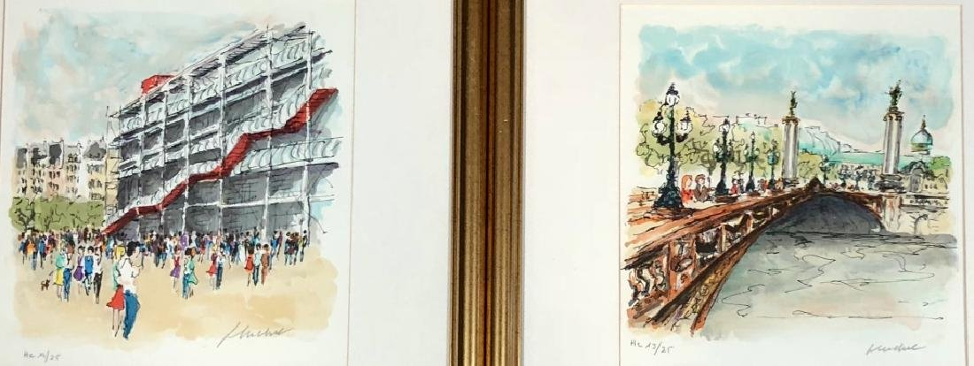 LOT OF 2 PENCIL SIGNED LITHOGRAPHS