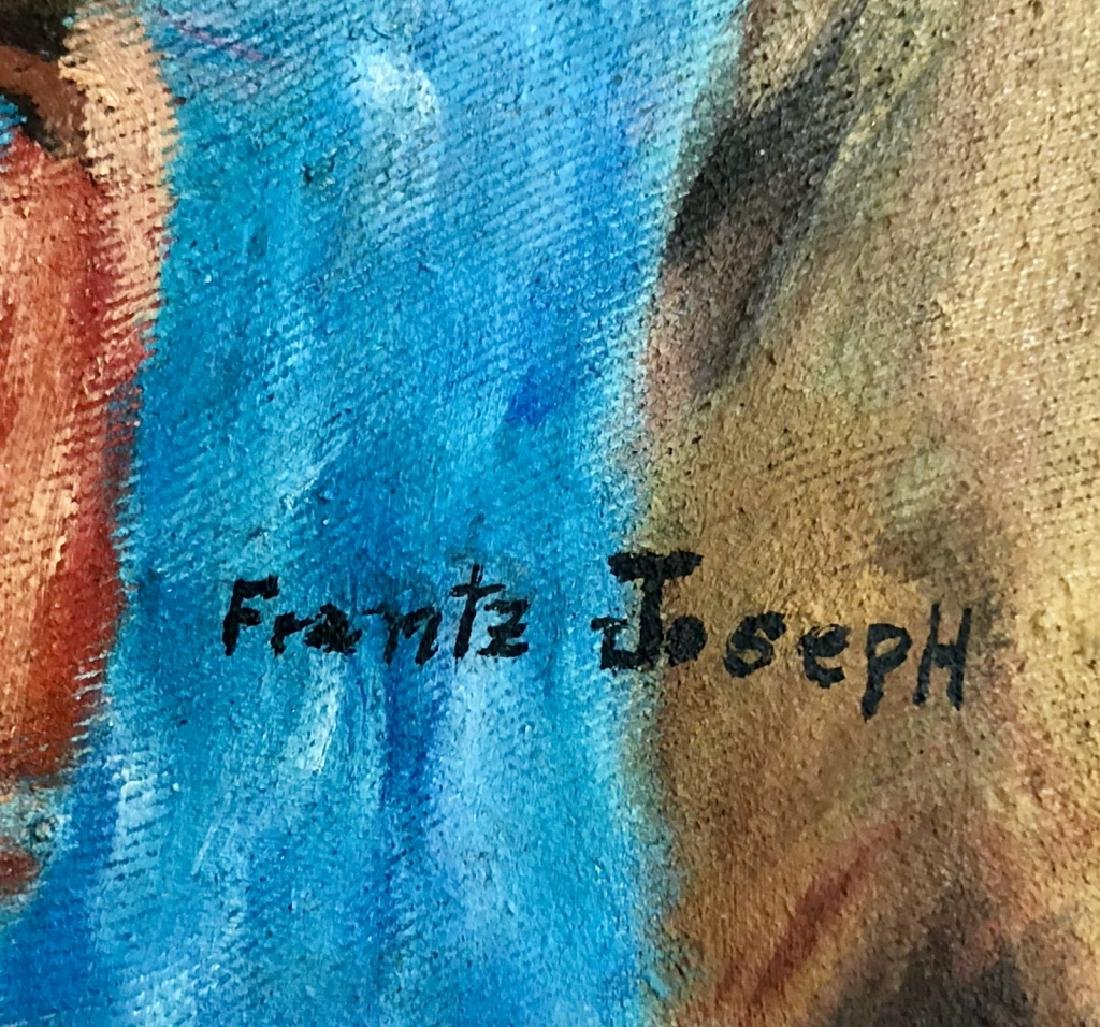FRANTZ JOSEPH AFRICAN AMERICAN OIL ON CANVAS - 2