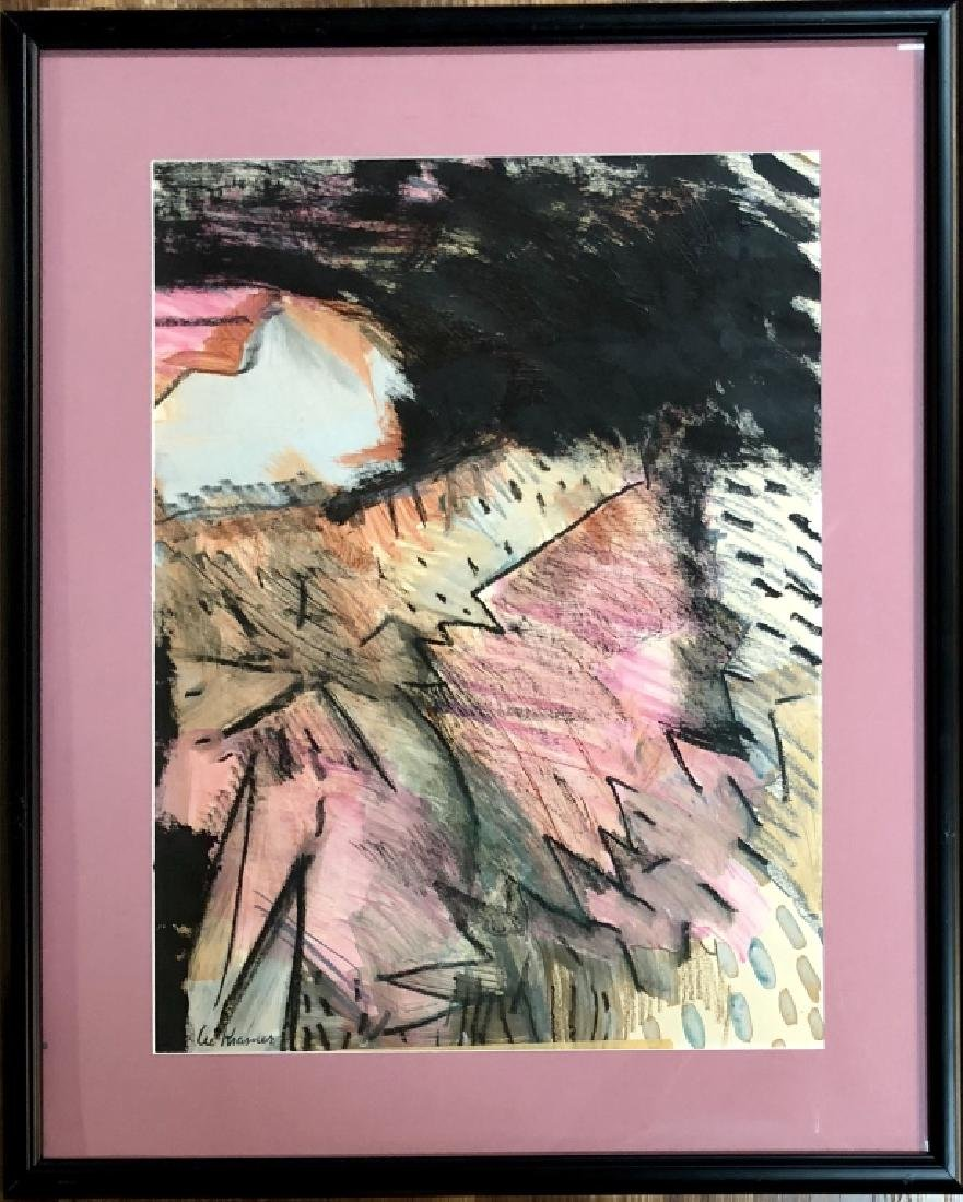 LEE KRASNER ABSTRAC TMIXED MEDIA WORK V$8,900