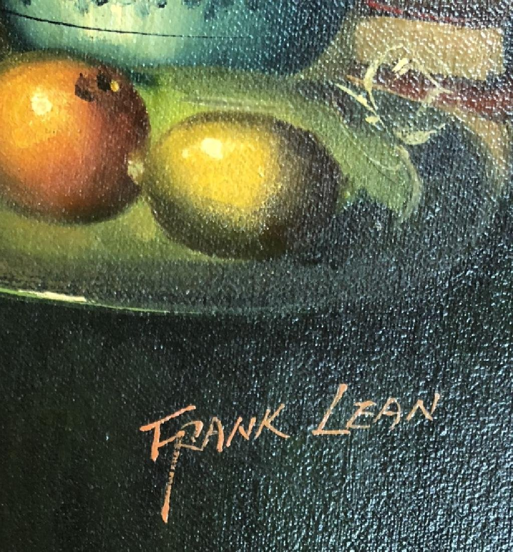 FRANK LEAN OIL ON CANVAS STILL LIFE - 5