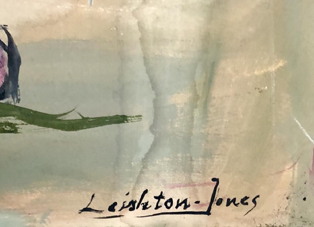 LEIGHTON -JONES OIL ON CANVAS CLOWN $1,500 - 5