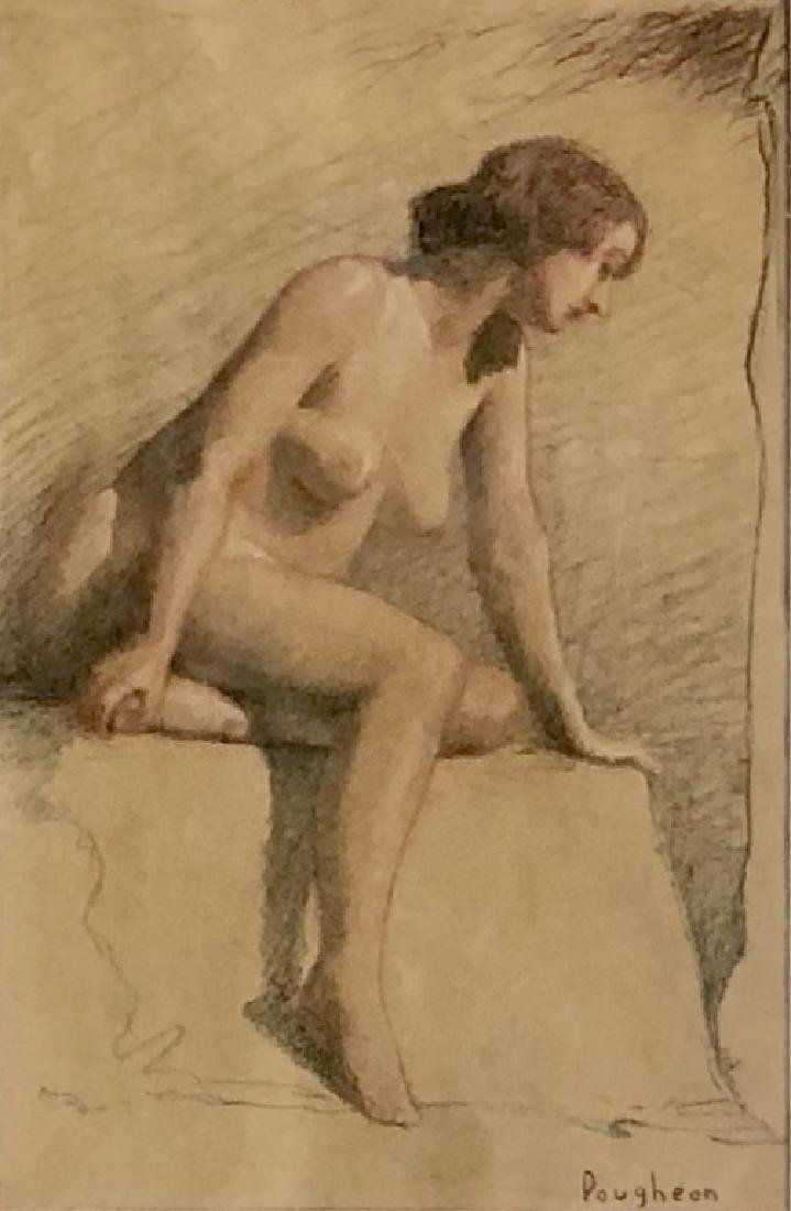 ROBERT POUGHEON FIGURATIVE PASTEL ON PAPER V$2,000