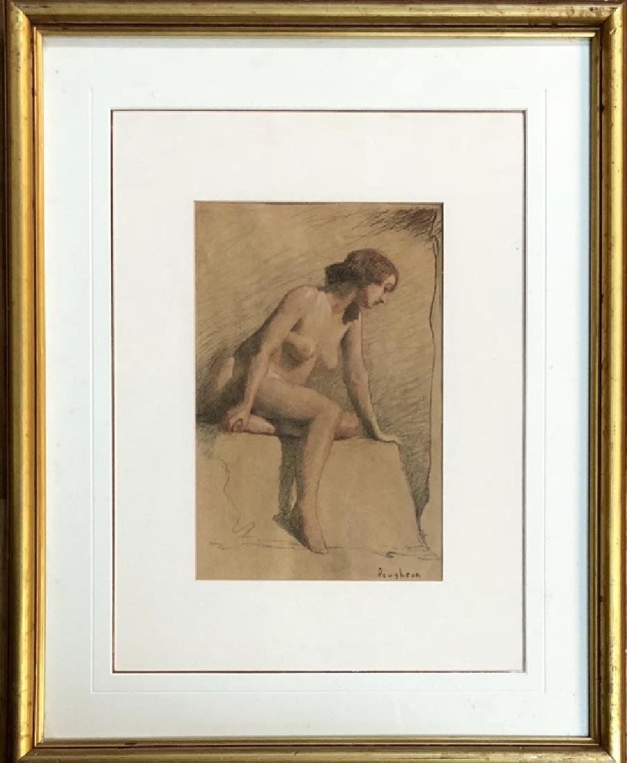 ROBERT POUGHEON FIGURATIVE PASTEL ON PAPER V$2,000 - 4