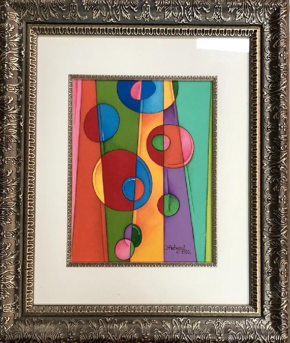 HILARIO PICASSO PEDREGAL ACRYLIC ON PAPER V$1500