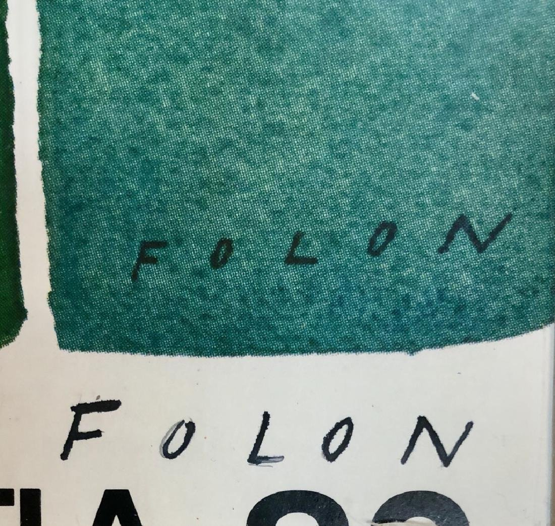 1982 JEAN MICHEL FOLON SIGNED POSTER V$1,200 - 2