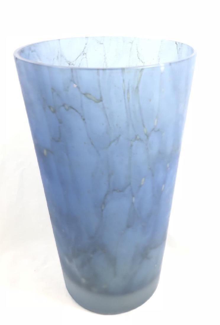 ELEGANT FROSTED LAVENDAR DECO GLASS VASE