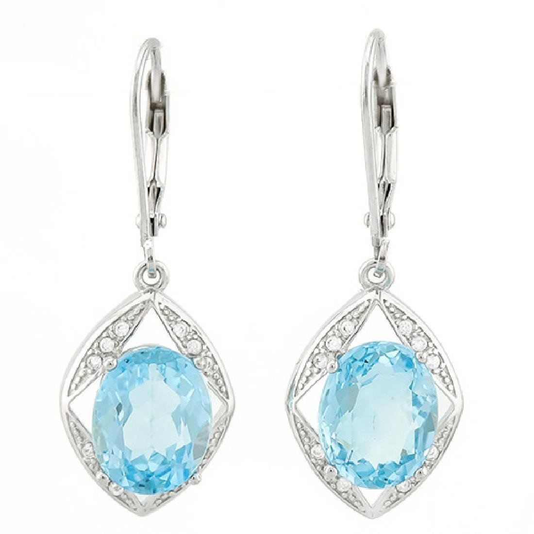 SMASHING 6CT SKY BLUE TOPAZ STERLING DANGLE ERGS