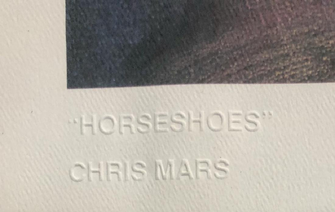 "SIGNED #348/1000 CHRIS MARS ""HORSESHOES"" LITHO - 3"