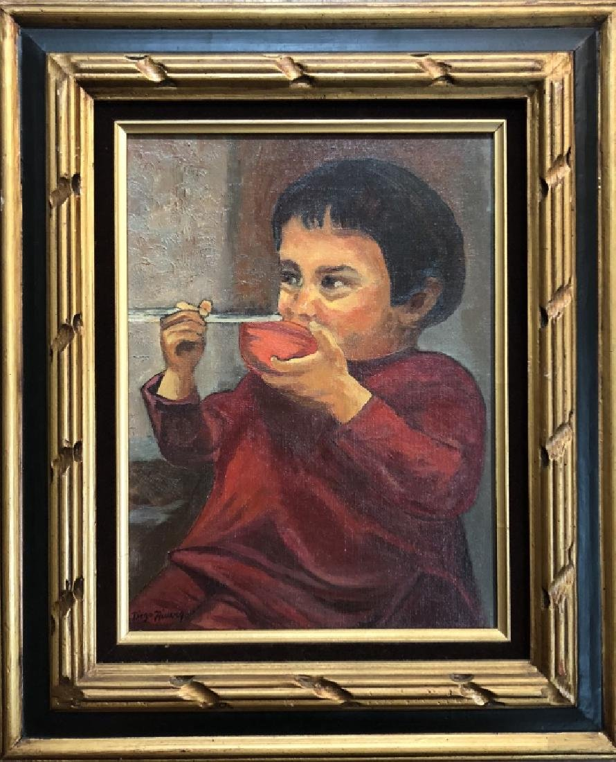 DIEGO RIVERA OIL ON CANVAS V$3,500