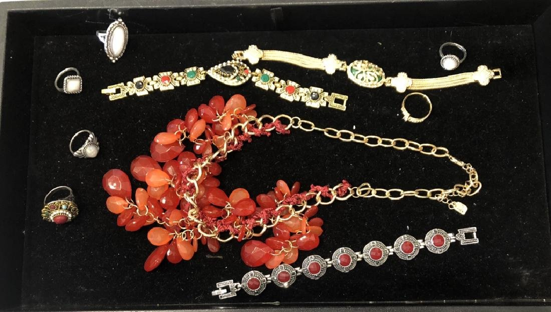 HUGE TRAY LOT OF ASSORTED COSTUME JEWELRY