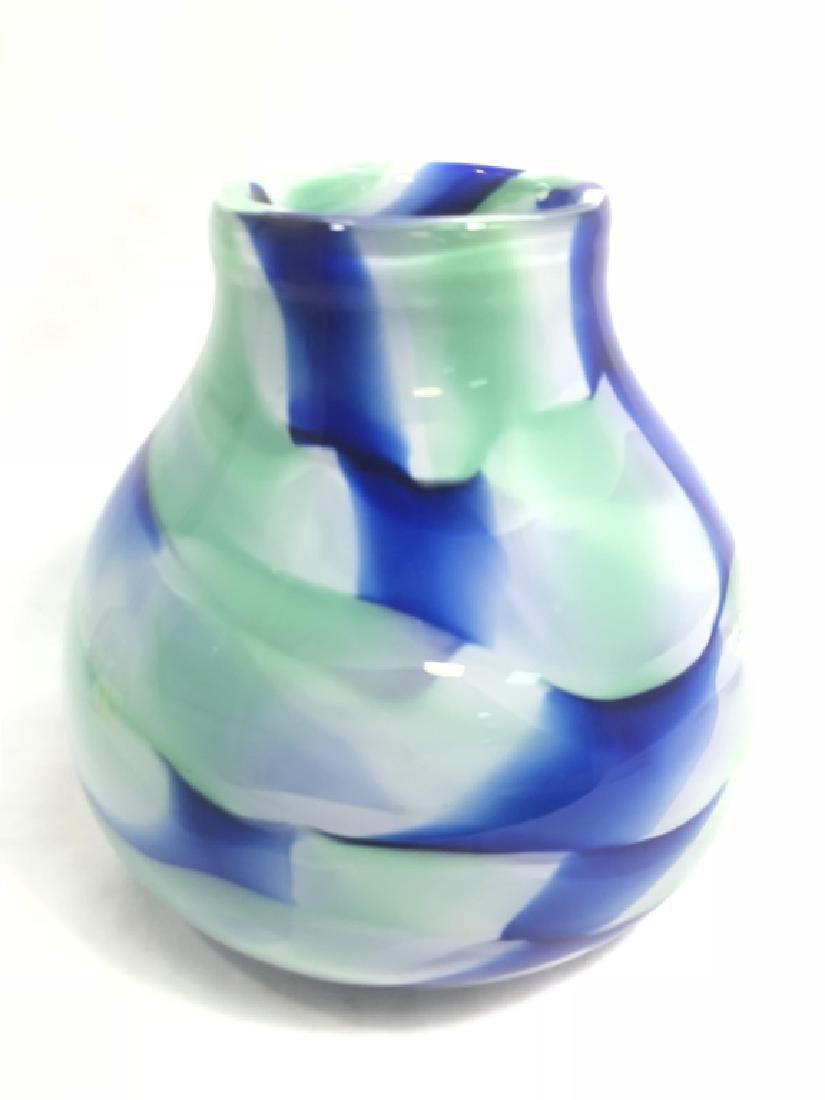 FANTASTIC MURANO BLUE/GREEN MODERNISTIC GLASS VASE