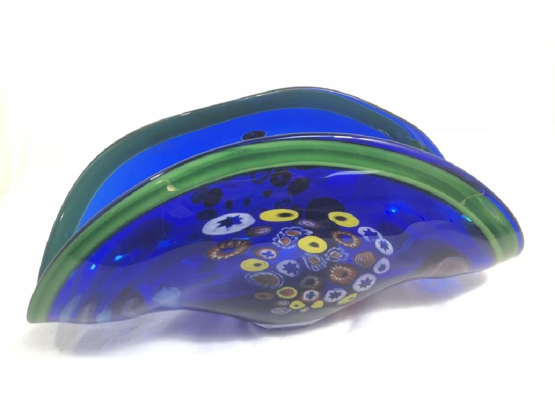 GORGEOUS MURANO MILIFIORI COLORFUL GALLERY BOWL