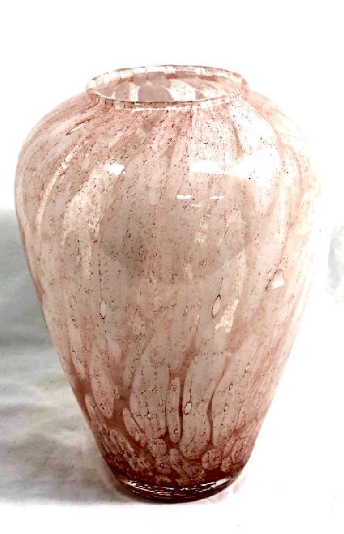 PRETTY PASTEL PINK VINTAGE MURANO GLASS VASE