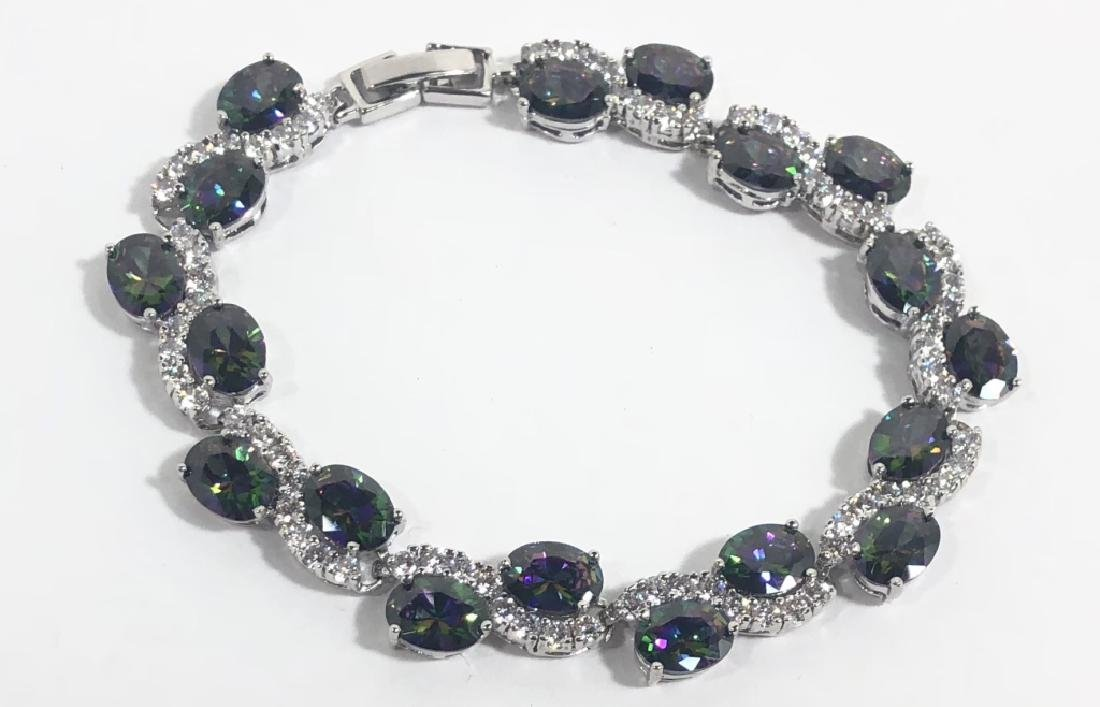 EXCELLENT MYSTIC TOPAZ/WHITE TOPAZ LADIES BRACELET