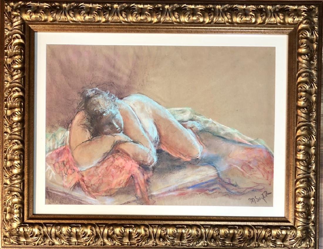 MOSES SOYER FIGURATIVE PASTEL ON PAPER V$2,700
