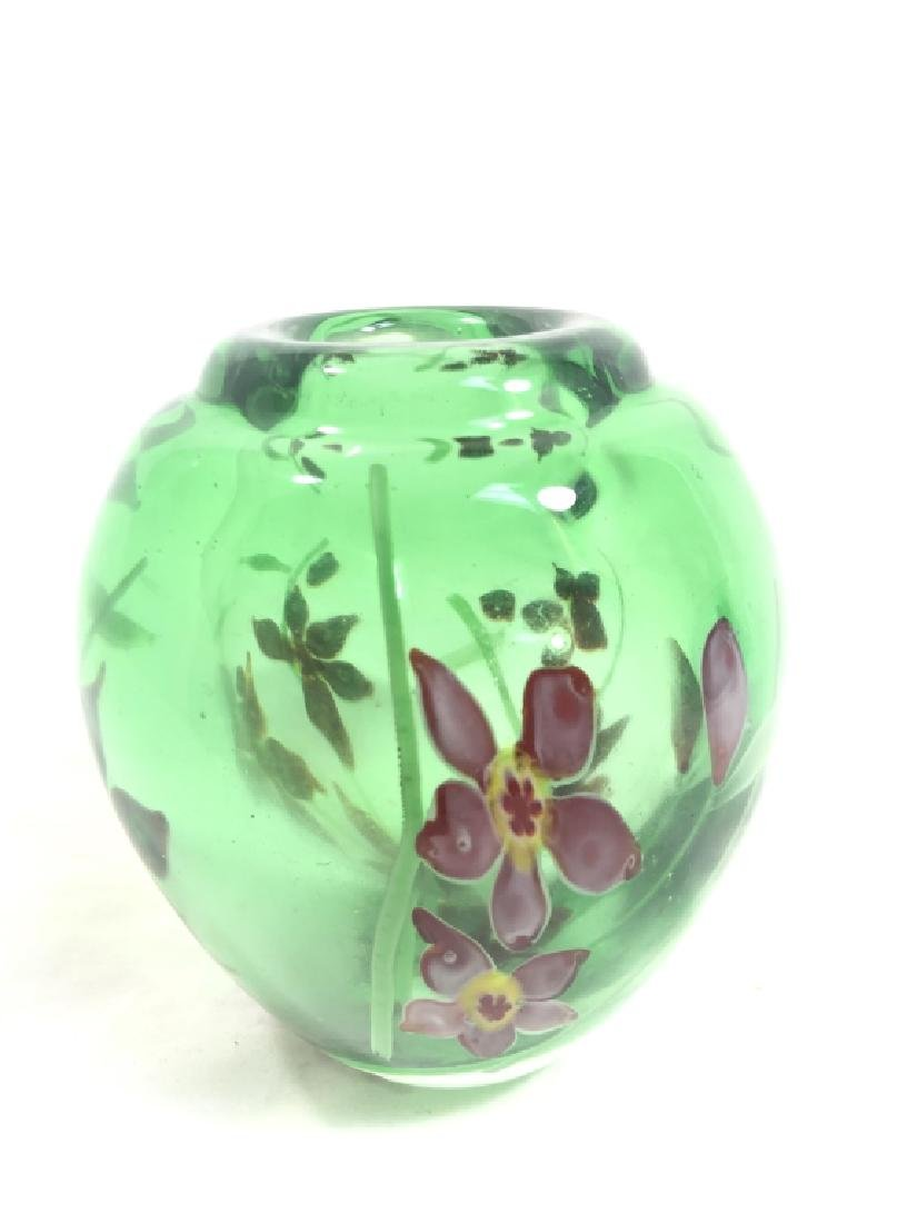 EXQUISITE VINTAGE MURANO FLOWER INFUSED VASE