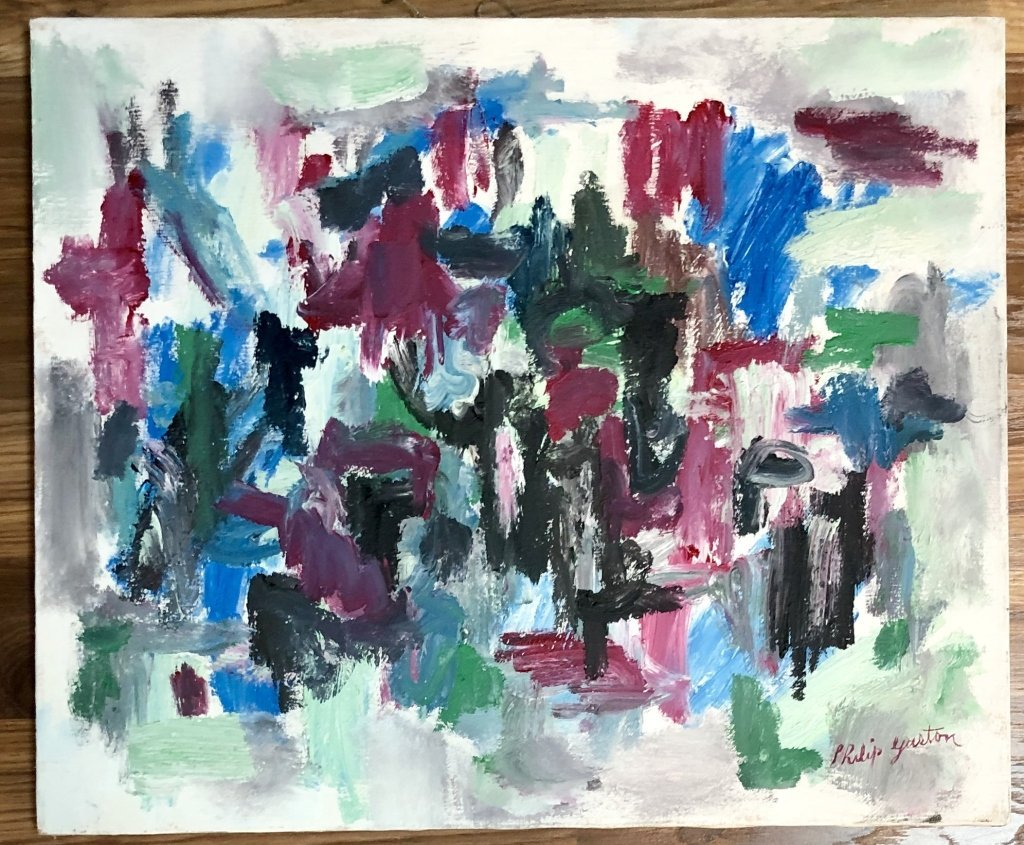 PHILIP GUSTON POLYCHROMATIC OIL ON CANVAS V$45,000