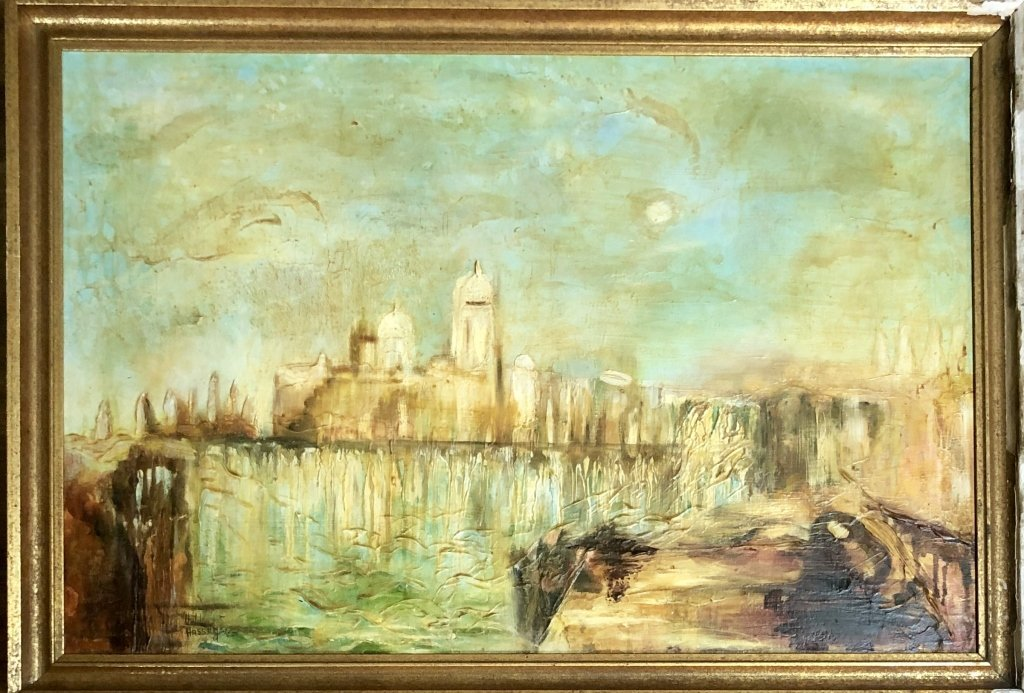 CHILDE HASSAM IMPERSSIONISTIC OIL/CANVAS V$100,000