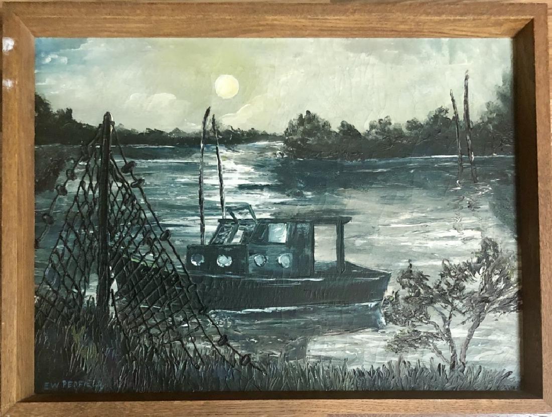 E.W. REDFIELD OIL ON BOARD SEASCAPE V$60,000