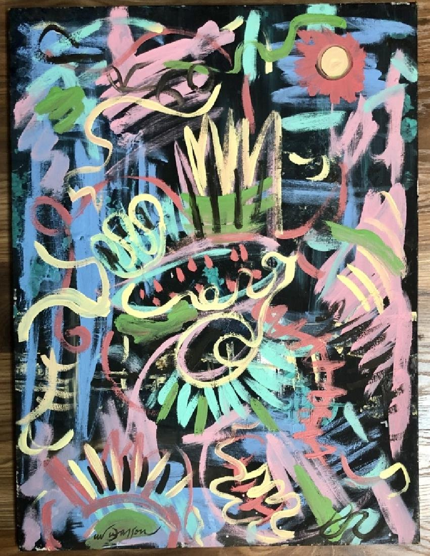 ANDRE MASSON ABSTRACT ACRYLIC ON CANVAS V$7,500
