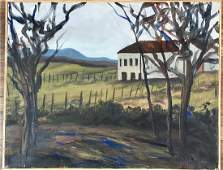 MAURICE DE VLAMINCK OIL ON CANVAS