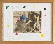JOAN MIRO PAINTING ON PABLO PICASSO PHOTO V$10,000