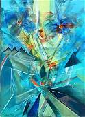 ROBERTO MATTA ABSTRACT OIL ON CANVAS PAINTING V12000