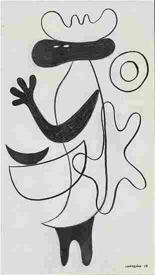 MARIO CARRENO MORALES INDIAN INK ON PAPER V$5,000