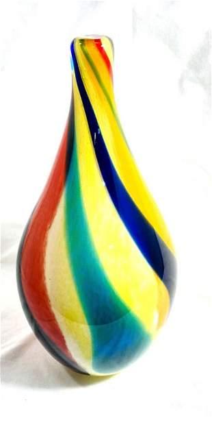 SPECTACULAR MULTI COLOR MURANO GALLERY GLASS VASE