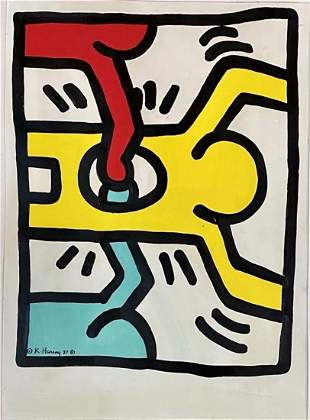 KEITH HARING SERIGRAPH POP ART ON PAPER V$5,000