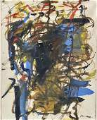 JOAN MITCHELL ABSTRACT OIL ON PAPER V$22,000