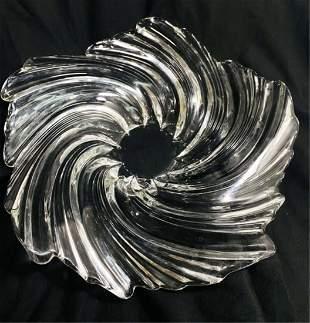 FANTASTIC ART DECO HANDMADE VINTAGE GLASS BOWL
