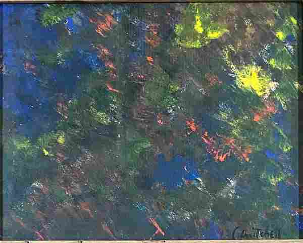 JOAN MITCHELL ABSTRACT OIL ON PAPER V$6,000